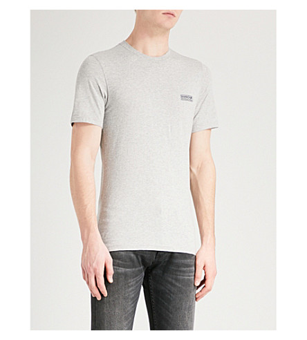 BARBOUR International logo cotton-jersey T-shirt (Grey