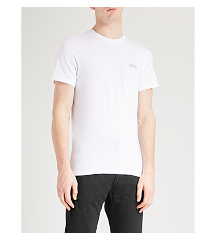 BARBOUR International logo cotton-jersey T-shirt (White