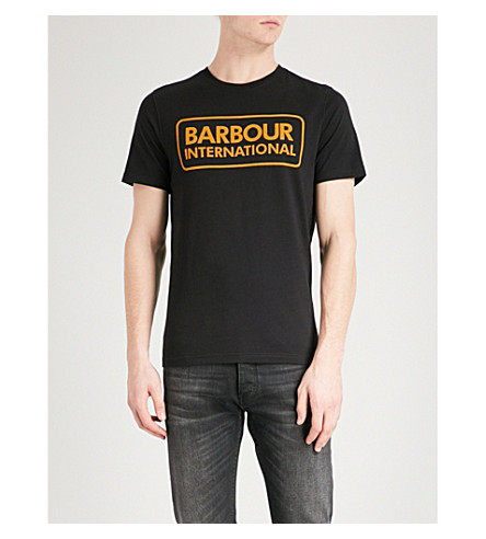 BARBOUR Essential cotton-jersey T-shirt (Black