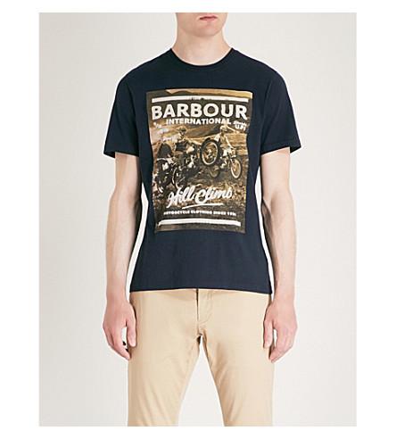 BARBOUR Hillclimbing cotton-jersey T-shirt (Navy