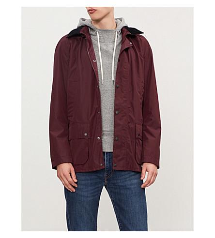 BARBOUR Ashbrooke hooded shell jacket (Bordeaux