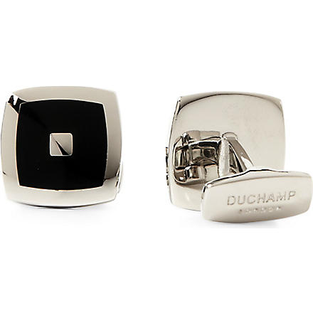 DUCHAMP Starburst cufflinks (Black