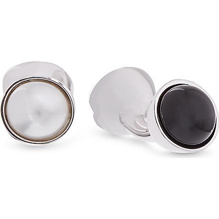 DUCHAMP Reversible pearl cufflinks (Black/white