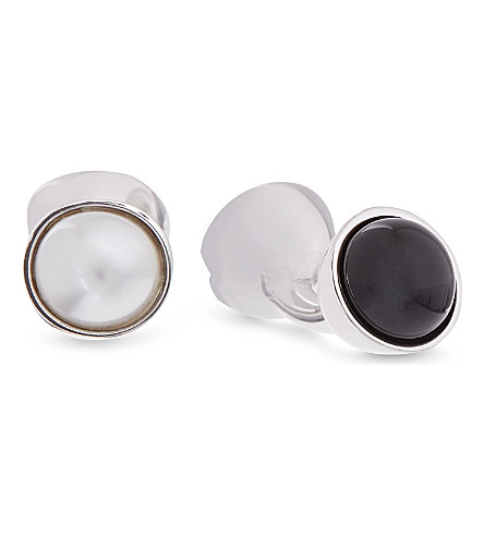 DUCHAMP Reversible pearl cufflinks (Black/white