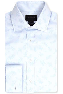 DUCHAMP Jacquard tailored-fit double-cuff shirt