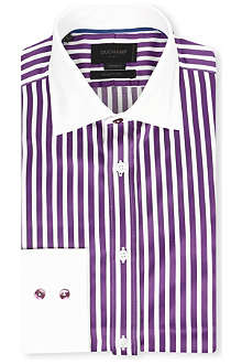DUCHAMP Lock-stripe tailored single-cuff shirt