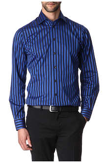 DUCHAMP Fushion stripe tailored-fit combined-cuff shirt