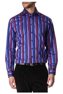 DUCHAMP Admiral striped tailored-fit single-cuff shirt