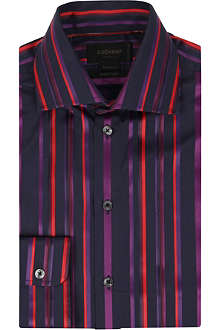 DUCHAMP Eagle stripe tailored-fit shirt