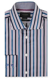 DUCHAMP Hurlington tailored-fit single-cuff shirt