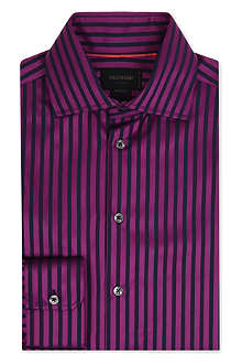 DUCHAMP Striped tailored-fit single-cuff shirt