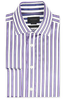 DUCHAMP Guarded-stripe French-cuff shirt