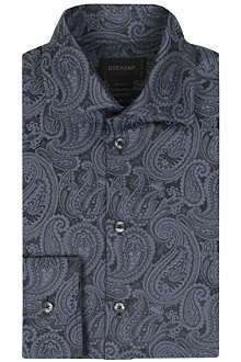DUCHAMP Paisley jacquard tailored-fit shirt