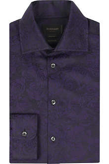 DUCHAMP Floral jacquard tailored-fit shirt
