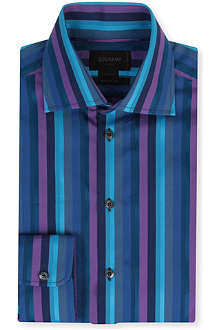 DUCHAMP Grenad striped spread-collar single-cuff shirt
