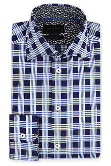 DUCHAMP Check single-cuff shirt