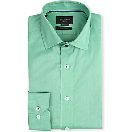 DUCHAMP Tailored-fit single-cuff shirt (Green