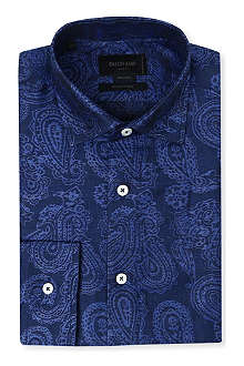 DUCHAMP Paisley tailored-fit single-cuff shirt