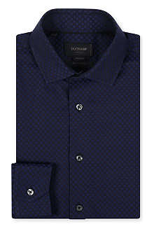 DUCHAMP Polka-dot jacquard single-cuff shirt