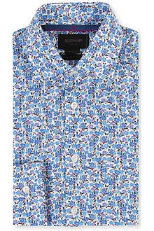 DUCHAMP Floral tailored single-cuff shirt