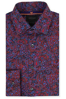 DUCHAMP Paisley-printed tailored single-cuff shirt