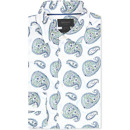 DUCHAMP Paisley spread-collar single-cuff shirt (Multi