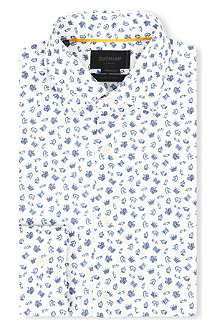 DUCHAMP Chess print cotton shirt