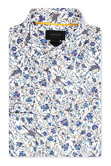 DUCHAMP Floral spread-collar single-cuff shirt