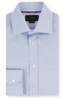 DUCHAMP Mini-herringbone tailored-fit single-cuff shirt