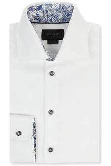 DUCHAMP Herringbone tailored single-cuff shirt