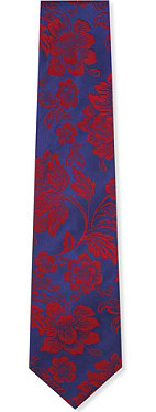 DUCHAMP Two-toned floral contrast tie