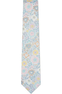 DUCHAMP Exotic blooms silk tie