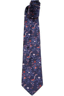 DUCHAMP Ornate Orchard silk tie