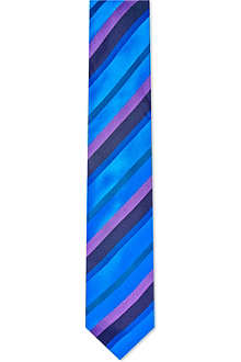 DUCHAMP Block stripe silk tie
