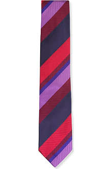 DUCHAMP Wide stripe silk tie