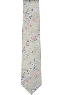 DUCHAMP Butterfly summer silk tie