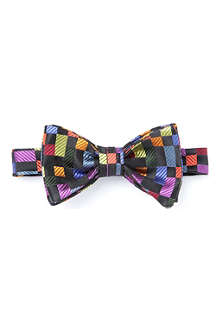 DUCHAMP Geometric silk bow tie