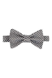 DUCHAMP Monochrome herringbone bow tie