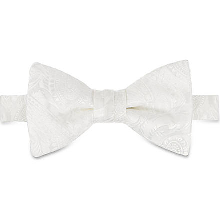 DUCHAMP Butterfly Garden plain bow tie (Black