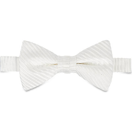 DUCHAMP Butterfly Garden plain bow tie (White