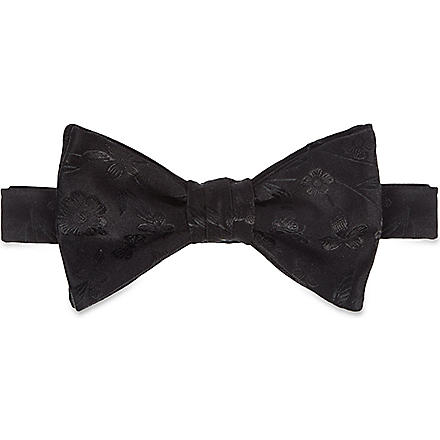 DUCHAMP Butterfly Garden bow tie (Black