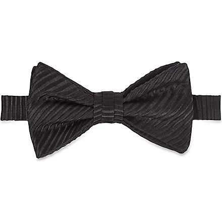 DUCHAMP Butterfly Garden plain bow tie (White'
