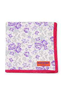 DUCHAMP Floral garden print pocket square
