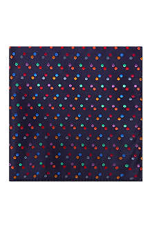 DUCHAMP Infinity Spot pocket square