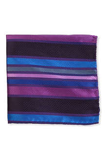 DUCHAMP Heavy stripe pocket square