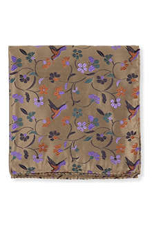 DUCHAMP Swallow garden pocket square