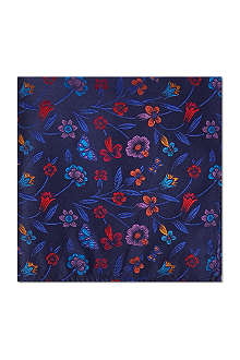 DUCHAMP Floral Butterfly Garden pocket square