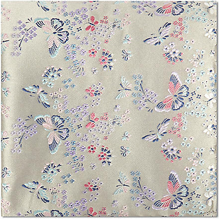 DUCHAMP Butterfly summer pocket square (Taupe