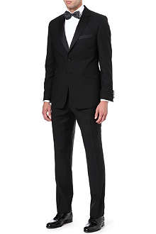 DUCHAMP Satin notch lapel tuxedo