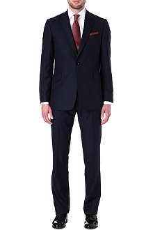 DUCHAMP Single-breasted skye stripe wool suit